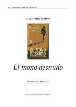 EL MONO DESNUDO de Desmond Morris