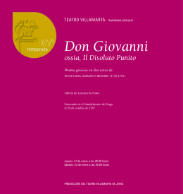 libreto: Don Giovanni