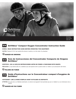 EN DeVilbiss® Compact Oxygen Concentrator Instruction Guide