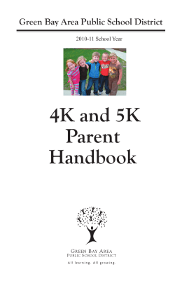 4K 5K Handbook 2010.indd - Green Bay Area Public School District