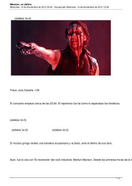Manson, un delirio