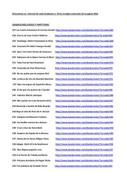 Direcciones en Internet de cada Grabacion y Otros arreglos