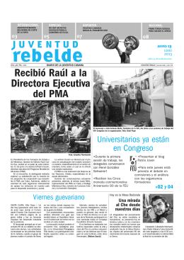 Recibió Raúl a la Directora Ejecutiva del PMA