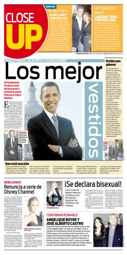 ¡Se declara bisexual! - El Diario de Coahuila
