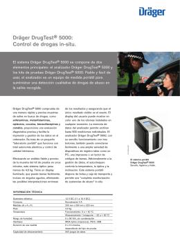 Dräger DrugTest® 5000: Control de drogas in
