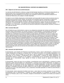 94 Hipotecaria Su Casita, S.A. de C.V. XIII. DESCRIPCIÓN DEL