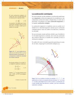 La aceleración centrípeta