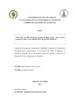 UNIVERSIDAD TÉCNICA DE AMBATO FACULTAD DE CIENCIA E