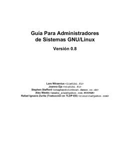 Guía Para Administradores de Sistemas GNU/Linux