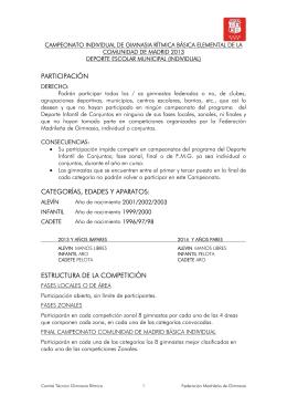 Ampliación Normas G.Rítmica Básica Elemental Individual 2013