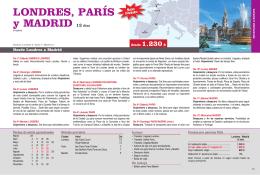 LONDRES, PARÍS y MADRID 12 días