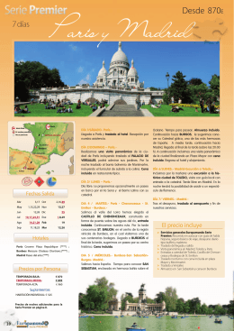 Paris y Madrid - Easy Going :: Empresa de Viajes y Turismo