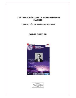 teatro albéniz de la comunidad de madrid jorge drexler