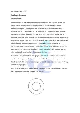 Actividad sobre facilitación emocional - CEP de Algeciras