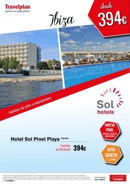 Gratis Hotel Sol Pinet Playa ****