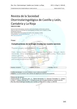 Revista de la Sociedad Otorrinolaringológica de