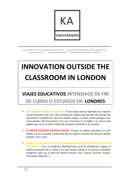 INNOVATION OUTSIDE THE CLASSROOM IN LONDON