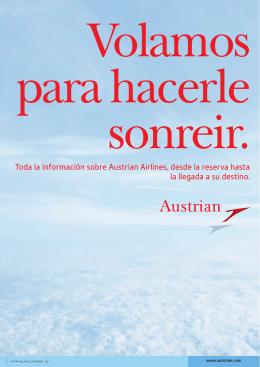 Toda la información sobre Austrian Airlines, desde la reserva hasta