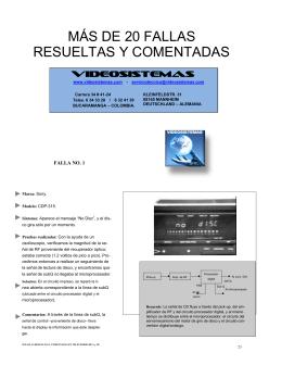 MÁS DE 20 FALLAS RESUELTAS Y COMENTADAS