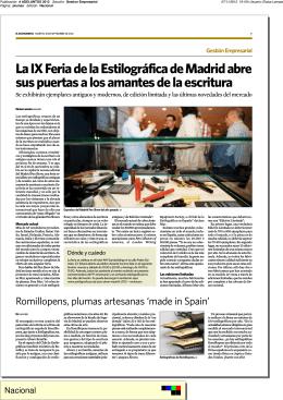 La IX Feria de la Estilográfica de Madrid abre
