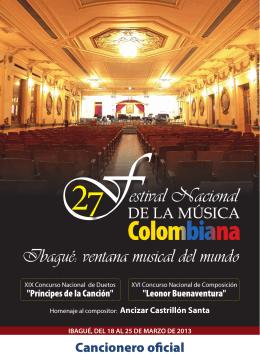 Cancionero 2013.indd - Fundación Musical de Colombia