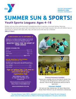 SUMMER SUN & SPORTS! - Jackie Robinson Family YMCA