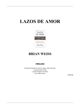 """""""Lazos de Amor"""" Brian Weiss"""