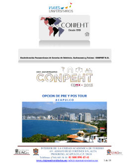 Tours Pre y Post Congreso acapulco