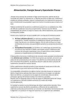 PDF Alimentacion, Energia Sexual y Eyaculacion Precoz