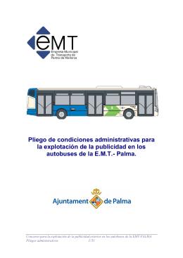 Pliego de condiciones administrativas PUBLICIDAD EMT