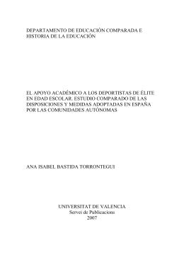 DEPARTAMENTO DE EDUCACIÓN COMPARADA E