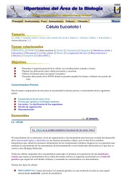 PDF Célula Eucariota I - Hipertextos del Área de la Biología