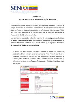 Guía Fácil Retenciones ISLR