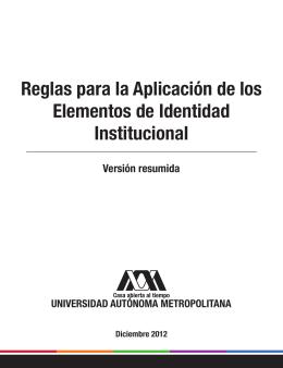 Reglas para la Aplicación de los Elementos de Identidad Institucional
