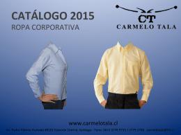 CATÁLOGO 2015 - Carmelo Tala y Cia