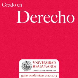 Grado en Derecho - Universidad de Salamanca