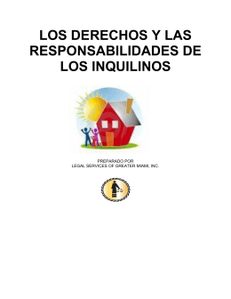 los derechos y las responsabilidades de los inquilinos