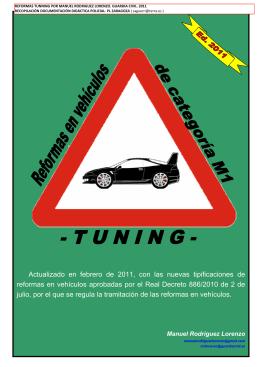 Reformas en vehículos de categoría M1 -TUNING-