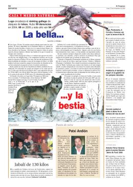 La bella... ...y la bestia - Federación Galega de Caza