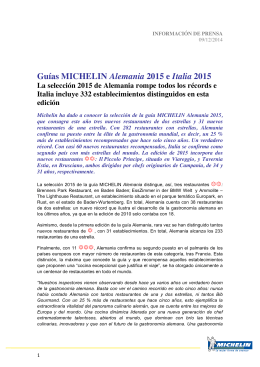 Guías MICHELIN Alemania 2015 e Italia 2015