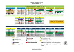 Calendario academico 2015 - Universidad Autónoma de Asunción