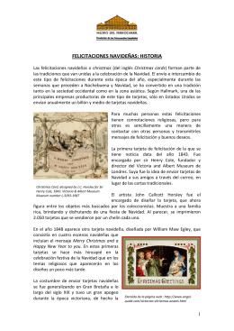 FELICITACIONES NAVIDEÑAS: HISTORIA