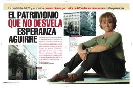 El patrimonio que no desvela Esperanza Aguirre