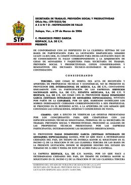 Notificación de Fallo - Gobierno del Estado de Veracruz