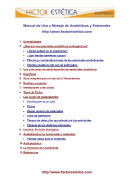 Testosterona y esteroides anabólicos androgénicos