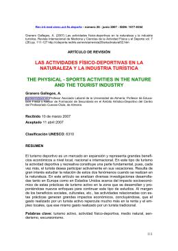 LAS ACTIVIDADES FÍSICO-DEPORTIVAS EN LA NATURALEZA Y