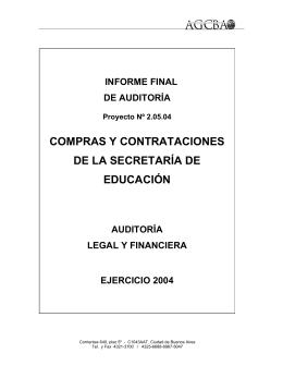 Informe - Auditoría General de la Ciudad de Buenos Aires