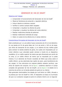 generador de van de graaff - UTN - Universidad Tecnológica Nacional