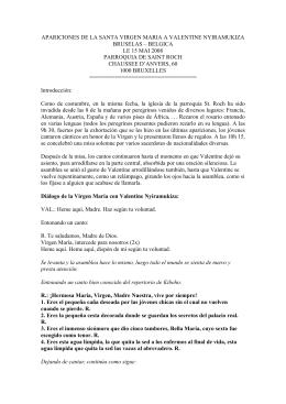 APARICIONES DE LA SANTA VIRGEN MARIA A VALENTINE