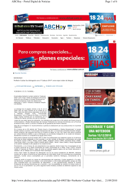 Page 1 of 6 ABCHoy - Portal Digital de Noticias 21/09/2010 http